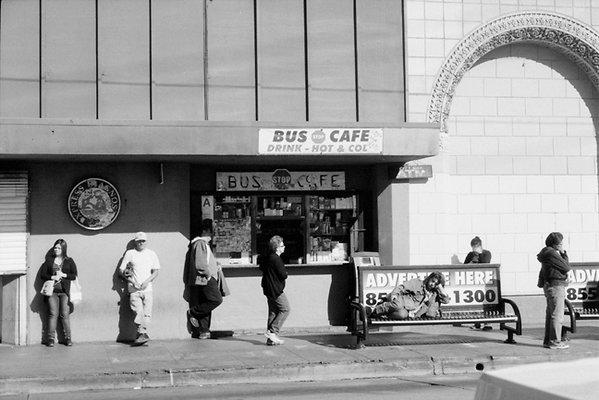 Bus Stop Cafe WAITING santa monica and vermont LA CA Jan 2012 sm